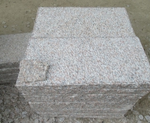 GL Pink Granite Paver, 5 faces cleaved, bottom sawn cut.
