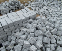 PM White  Granite Cubes, all sides cleaved.