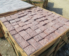 Red  Granite Cubes, all sides cleaved.
