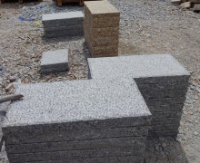 XS White Granite Paver, 5 faces cleaved, bottom sawn cut.